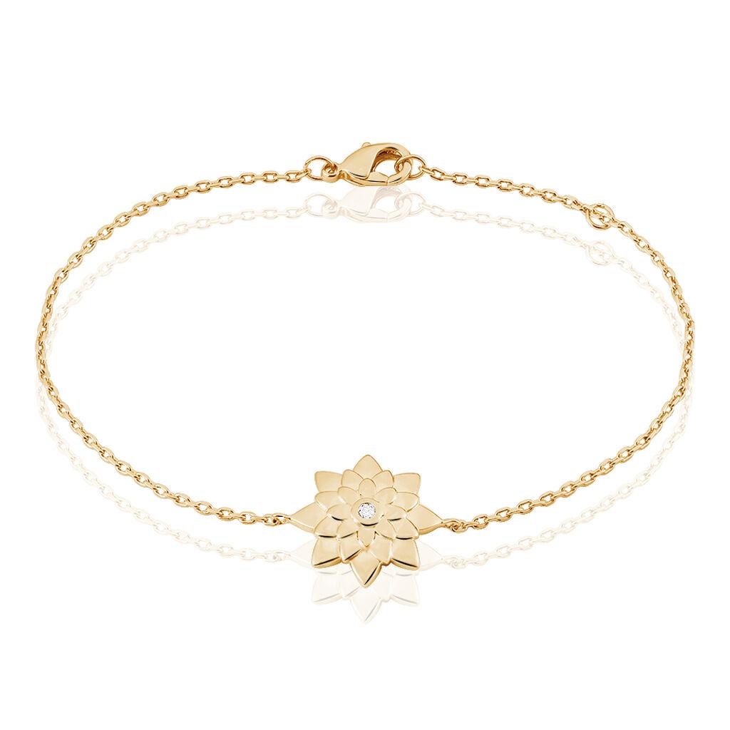 Bracelet Maye Plaque Or Jaune Oxyde De Zirconium - Bracelets fantaisie Femme   Histoire d'Or