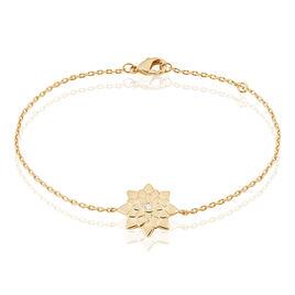Bracelet Maye Plaque Or Jaune Oxyde De Zirconium - Bracelets fantaisie Femme | Histoire d'Or