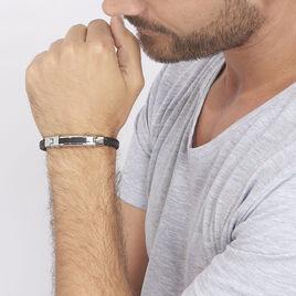 Bracelet Mathieu Acier Blanc - Bracelets fantaisie Homme | Histoire d'Or