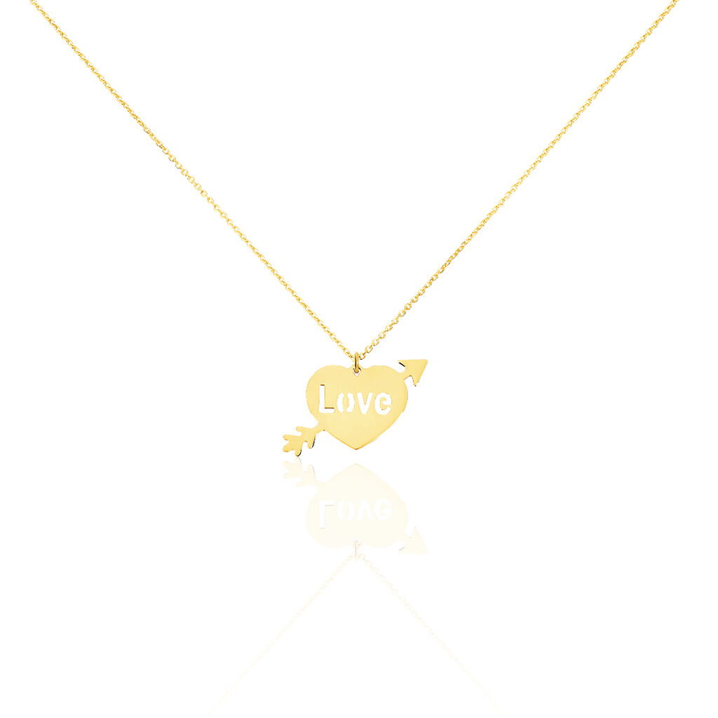 Collier Jasna Message Or Jaune