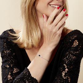 Bracelet Oceania Or Blanc Saphir Et Diamant - Bijoux Femme | Histoire d'Or