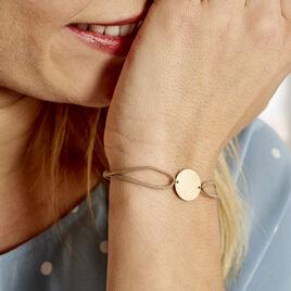 Bracelet Collection Gravable Or Jaune - Bracelets cordon Femme   Histoire d'Or