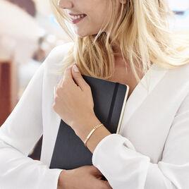 Bracelet Identité Carla Maille Gourmette Plaque Or Jaune - Bracelets fantaisie Femme | Histoire d'Or