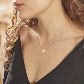 Collier Carles Or Jaune Perles De Culture - Colliers Coeur Femme | Histoire d'Or