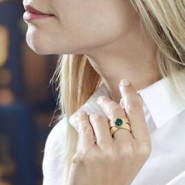 Bague Ilia Plaque Or Jaune Verre - Bagues solitaires Femme   Histoire d'Or