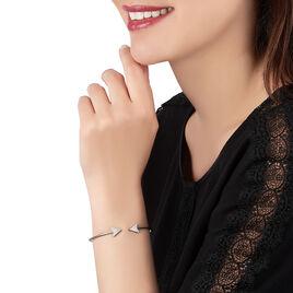 Bracelet Jonc Deva Argent Blanc Oxyde De Zirconium - Bracelets fantaisie Femme | Histoire d'Or