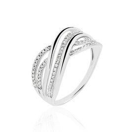 Bague Ocean Or Blanc Diamant - Bagues avec pierre Femme | Histoire d'Or