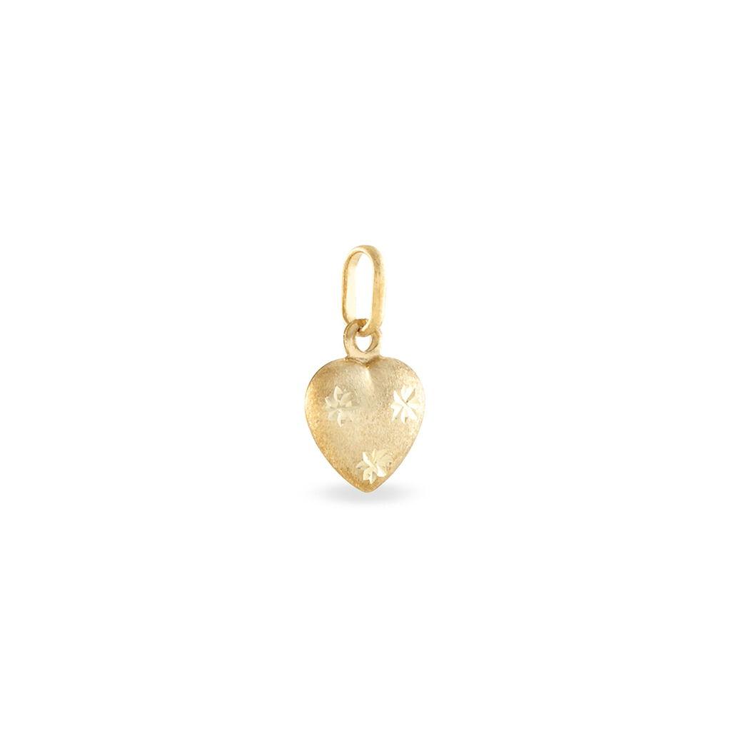 Pendentif Cœur Satine Mm Or Jaune - Pendentifs Etoile Unisexe | Histoire d'Or