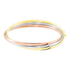 Bracelet Jonc Catalin 3 Fils Flexibles Or Tricolore - Bracelets joncs Femme | Histoire d'Or