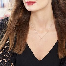 Collier Menel Argent Rose - Colliers Coeur Femme | Histoire d'Or