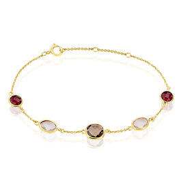 Bracelet Ambroisine Or Jaune Rhodolite Et Quartz - Bijoux Femme   Histoire d'Or
