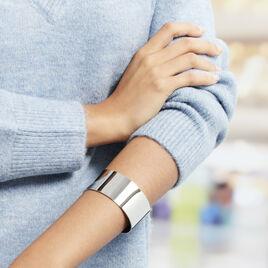Bracelet Jonc Aissa Acier Blanc - Bracelets fantaisie Femme | Histoire d'Or