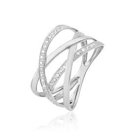 Bague Trisca Or Blanc Diamant - Bagues avec pierre Femme   Histoire d'Or