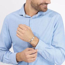 Bracelet Jonathan Acier Blanc - Bracelets fantaisie Homme | Histoire d'Or
