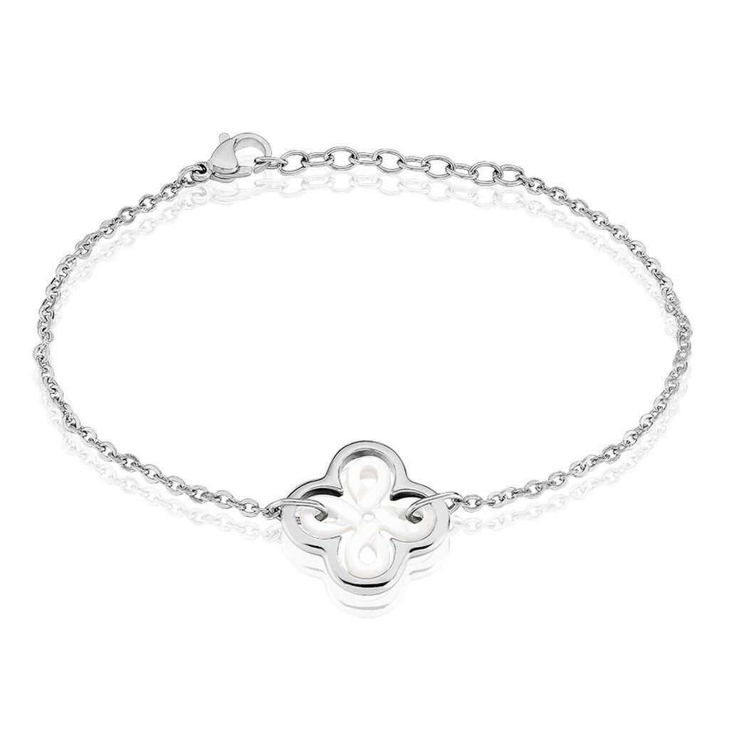 Bracelet Avel Acier Blanc - Bracelets fantaisie Femme | Histoire d'Or