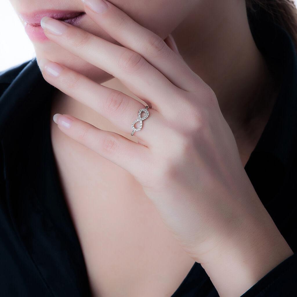 Bague Klothilda Or Blanc Oxyde De Zirconium - Bagues Infini Femme   Histoire d'Or