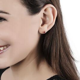 Boucles D'oreilles Puces Or Jaune Rubis - Clous d'oreilles Femme | Histoire d'Or