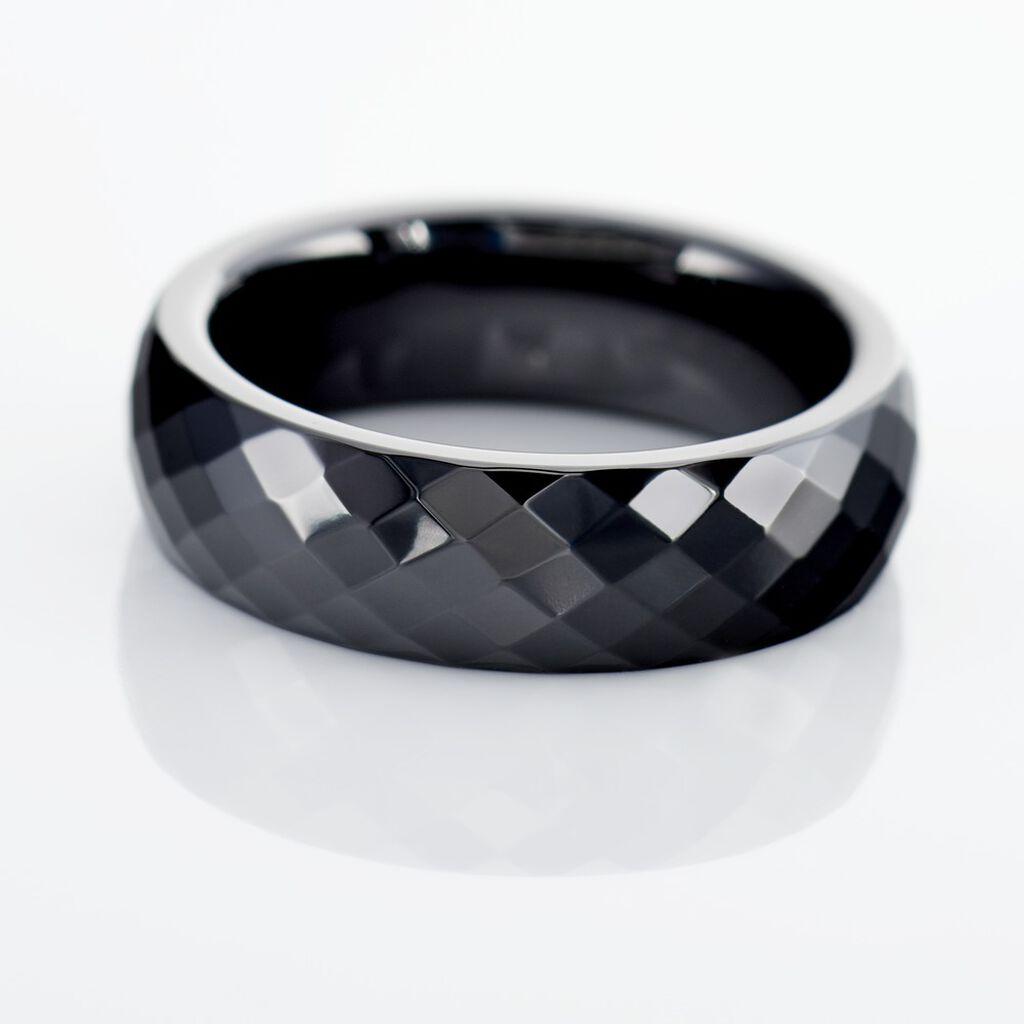 Bague Marichka Ceramique Noir Céramique - Bagues avec pierre Femme | Histoire d'Or
