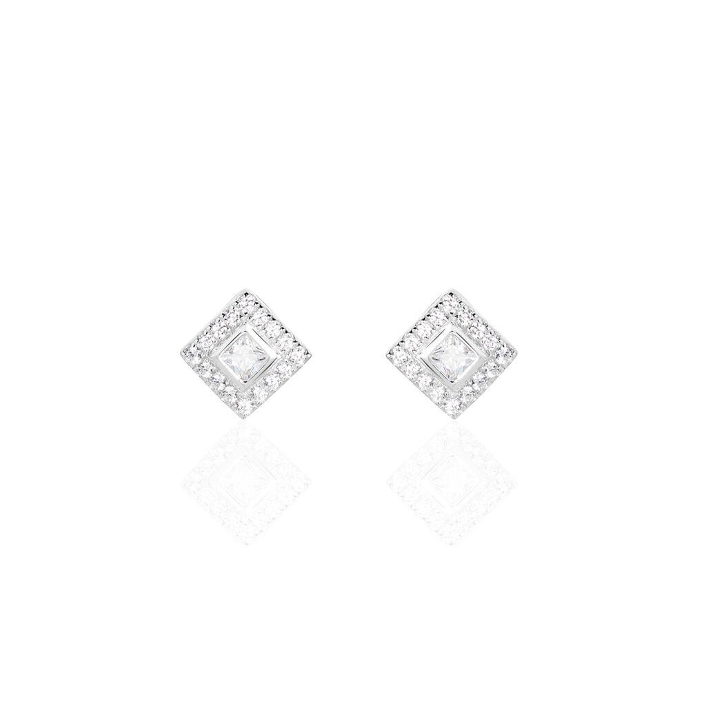 Boucles D'oreilles Pendantes Marie-elsa Argent Oxyde De Zirconium - Boucles d'oreilles fantaisie Femme | Histoire d'Or