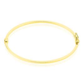 Bracelet Jonc Cynthia Fil Carre Lisse Or Jaune - Bijoux Femme | Histoire d'Or