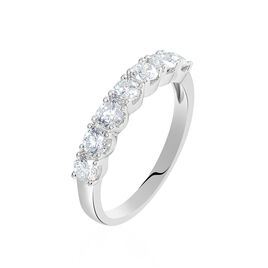 Alliance Eloisa Or Blanc Diamant Synthetique - Alliances Femme | Histoire d'Or
