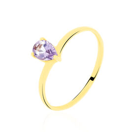 Bague Mathumitha Or Jaune Amethyste - Bagues solitaires Femme | Histoire d'Or