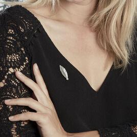Broche Euriell Argent Blanc - Bijoux Plume Femme   Histoire d'Or