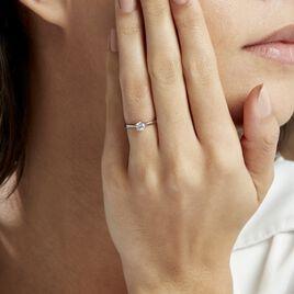 Bague Solitaire Victoria Platine Blanc Diamant - Bagues avec pierre Femme   Histoire d'Or
