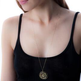 Collier Or Jaune Rosace 70cm - Sautoirs Femme | Histoire d'Or