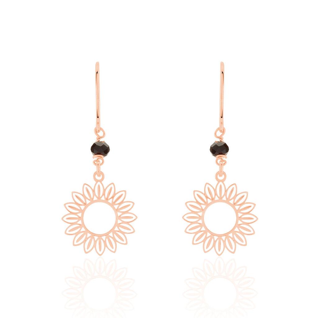 Boucles D'oreilles Pendantes Ombelline Argent Rose - Boucles d'oreilles fantaisie Femme | Histoire d'Or
