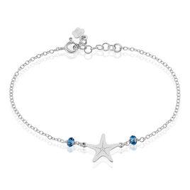 Bracelet Ninia Argent Blanc Pierre De Synthese - Bijoux Etoile Femme | Histoire d'Or