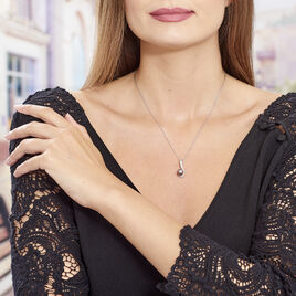 Collier Argent Perle Oxydes De Zirconium - Bijoux Femme | Histoire d'Or