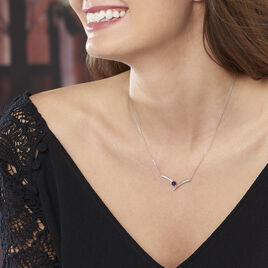 Collier Renaldine Or Blanc Saphir - Colliers Coeur Femme | Histoire d'Or
