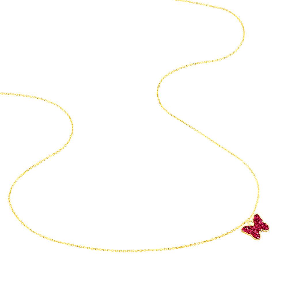 Collier Solena Papillon Or Jaune - Colliers Naissance Enfant | Histoire d'Or