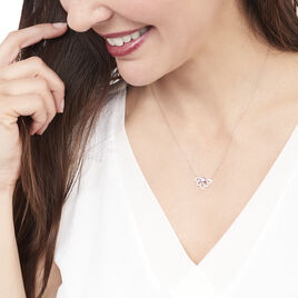 Collier Chesna Or Rose Amethyste Et Diamant - Bijoux Femme | Histoire d'Or