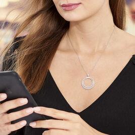 Collier Ritadj Argent Blanc Oxyde De Zirconium - Colliers Lune Femme | Histoire d'Or