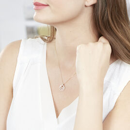 Collier Rama Or Tricolore Oxyde De Zirconium - Bijoux Femme   Histoire d'Or