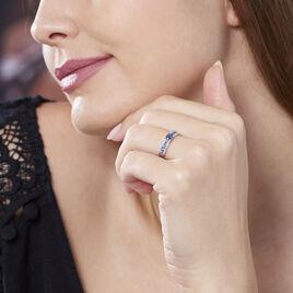 Bague Sharlyne Or Blanc Saphir - Bagues solitaires Femme | Histoire d'Or