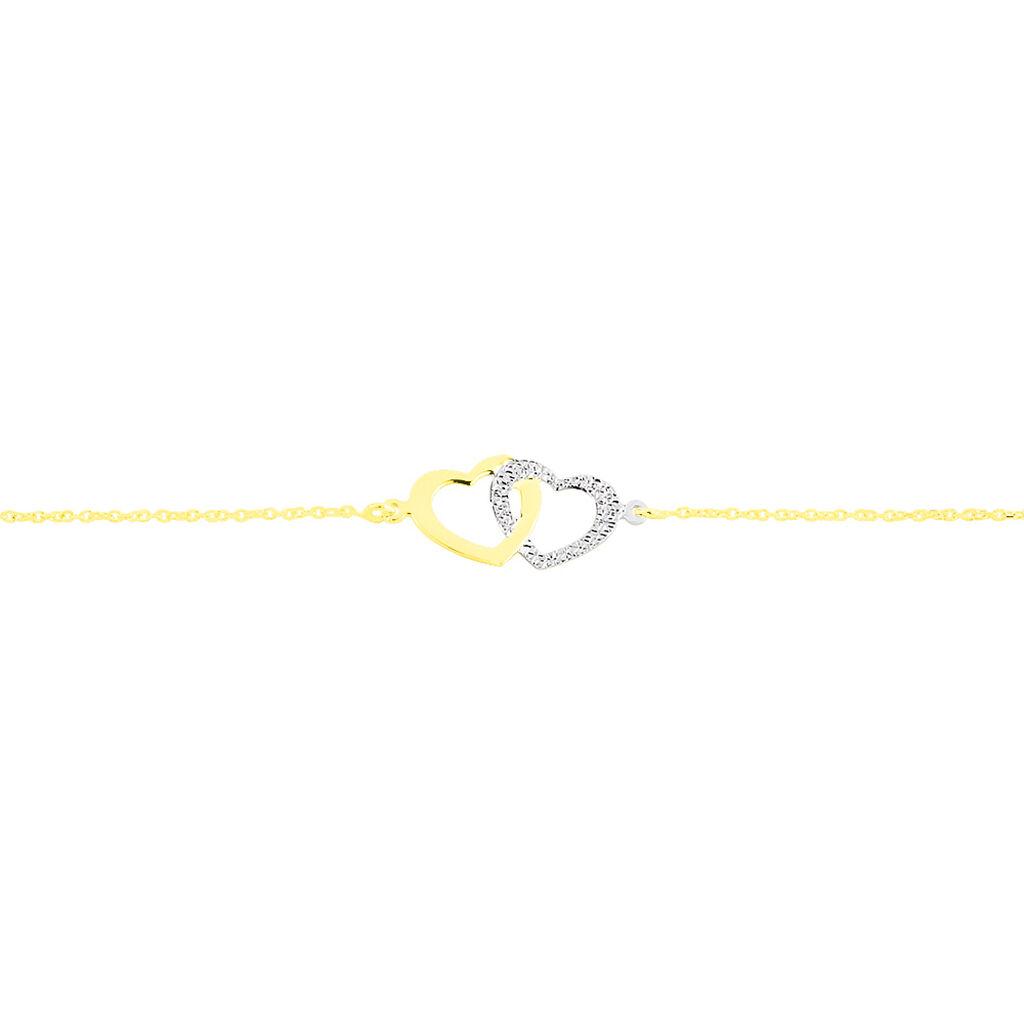Bracelet Natala Or Bicolore - Bracelets Coeur Femme   Histoire d'Or