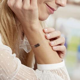 Bracelet Alicia Argent Blanc Céramique - Bracelets Infini Femme | Histoire d'Or