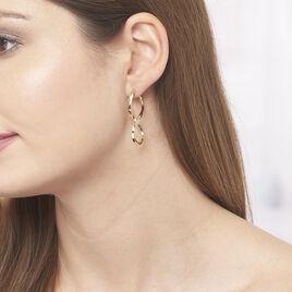 Créoles Hellen Huit Fil Triangle Or Jaune - Boucles d'oreilles créoles Femme   Histoire d'Or