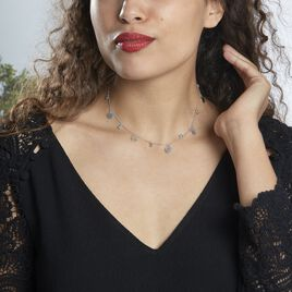 Collier Tanaya Argent Blanc Verre - Bijoux Femme   Histoire d'Or