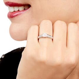 Bague Celia Or Blanc Diamant - Bagues avec pierre Femme | Histoire d'Or