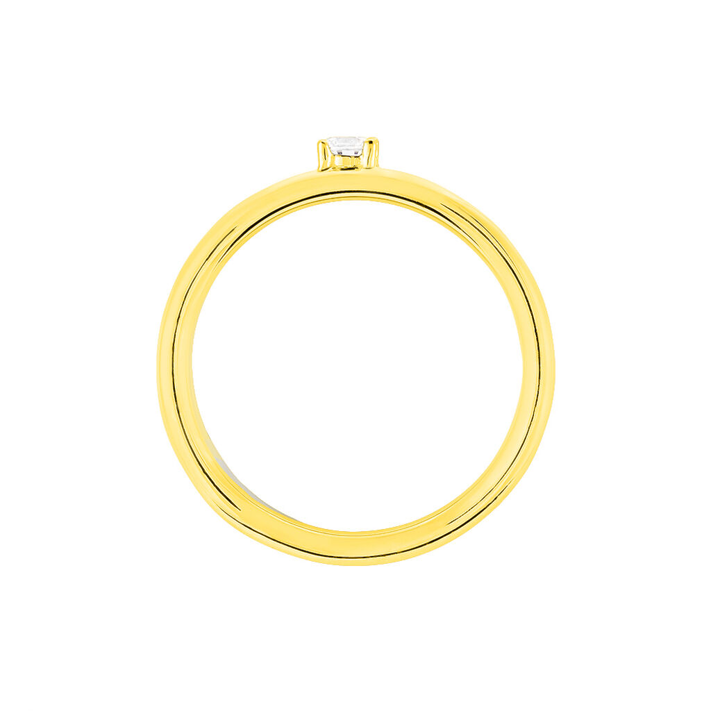 Bague Solitaire Andrada Or Bicolore Oxyde De Zirconium - Bagues solitaires Femme | Histoire d'Or