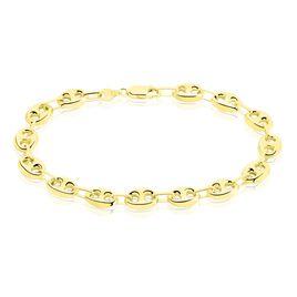 Bracelet Dami Maille Grain De Cafe Or Jaune - Bracelets chaîne Homme   Histoire d'Or
