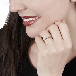 Bague Solitaire Veronika Or Blanc Diamant - Bagues solitaires Femme | Histoire d'Or