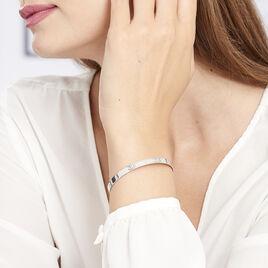 Bracelet Jonc Gravita Argent Blanc - Bracelets fantaisie Femme   Histoire d'Or