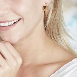 Créoles Keara Plaque Or Jaune - Boucles d'oreilles créoles Femme | Histoire d'Or