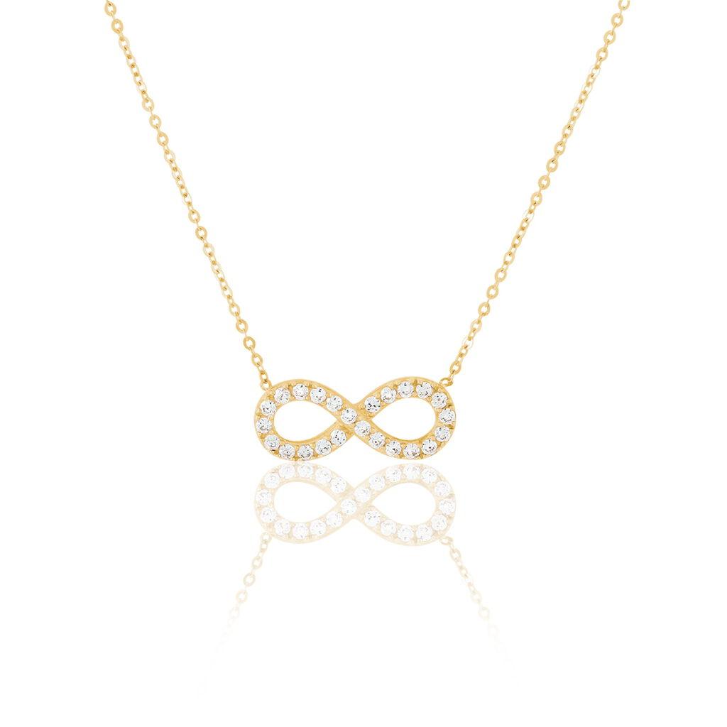 Collier Klothilda Or Jaune Oxyde De Zirconium - Colliers Infini Femme | Histoire d'Or