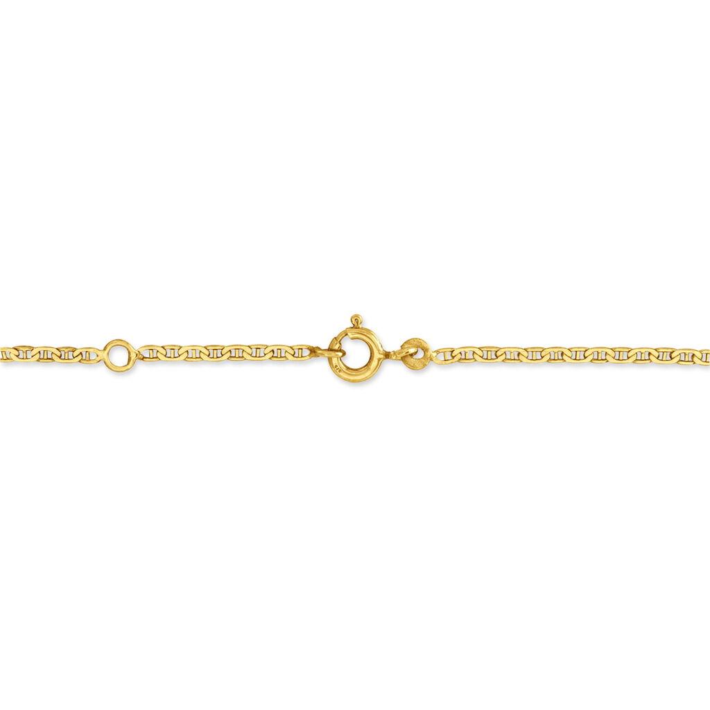Bracelet Identité Estella Maille Cheval Or Jaune - Bracelets Communion Enfant | Histoire d'Or